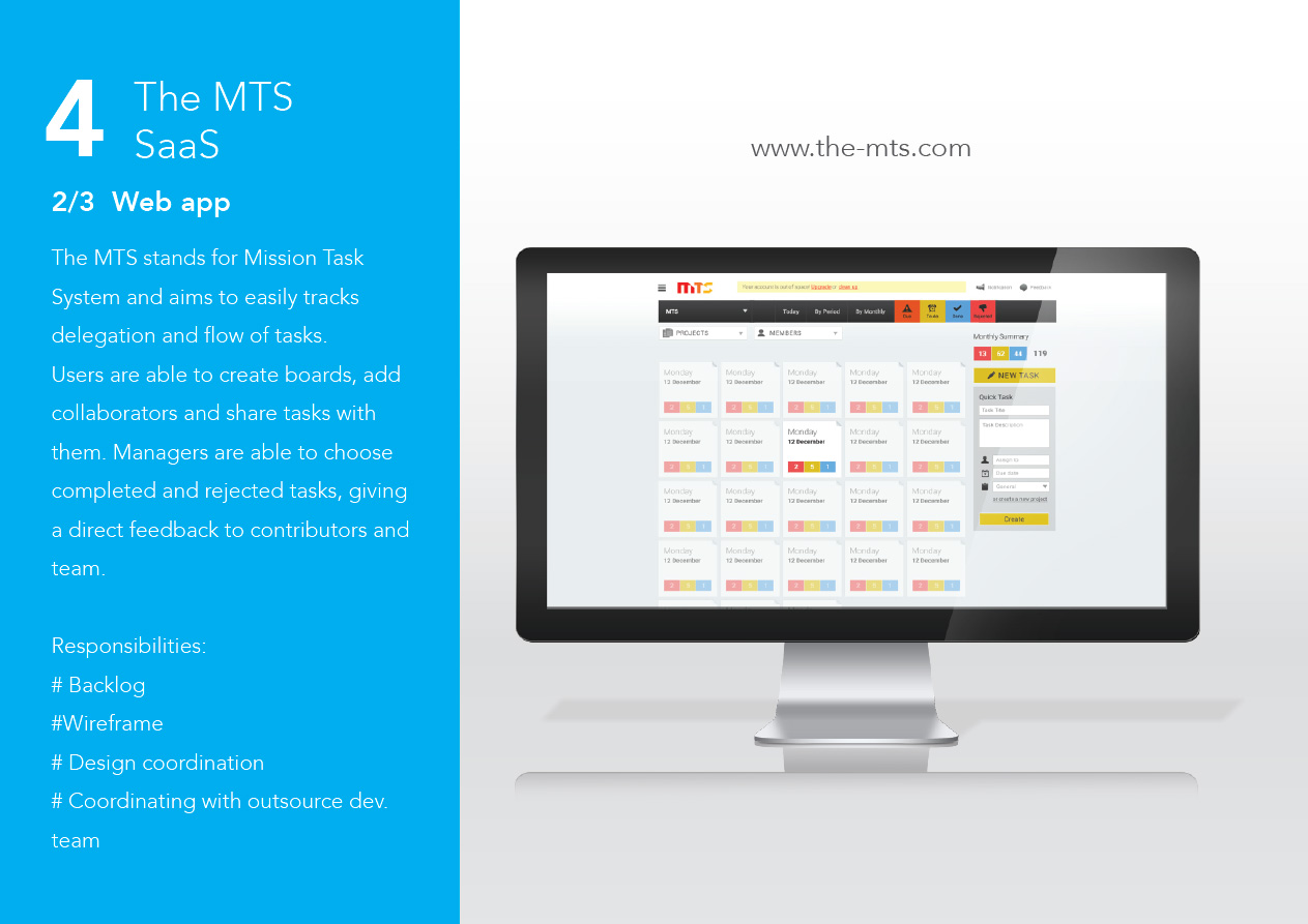The MTS - Web solution